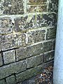 Benchmark on wall of The Old Rectory, South Walks Road - geograph.org.uk - 2084494.jpg