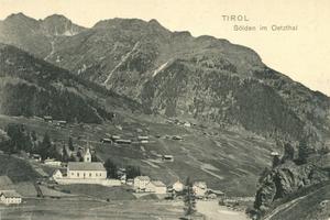 Sölden - Postcard from Sölden with Berghof (about 1920)