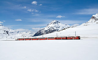 Bernina Express - Lej Pitschen near Bernina Pass