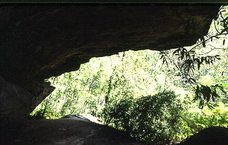 Mount Kuring-gai, New South Wales - Rock shelter in Lyrebird Gully, where lyrebirds are occasionally seen