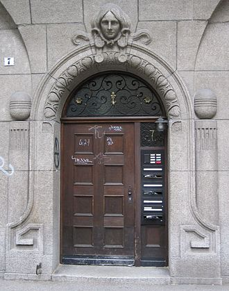 Cast stone - German doorway in cast stone
