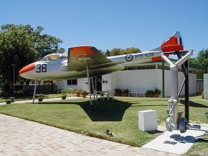Beverley, Western Australia - RAAF De Havilland Vampire at Beverley museum.