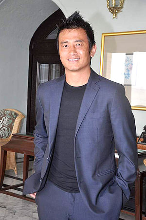 Bhaichung Bhutia - Image: Bhaichung Bhutia at the NDTV Marks for Sports event 21