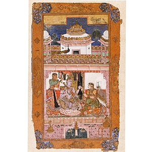 1591 in art - by pupils of Mir Sayyid 'Ali – Bhairava raga, Ragamala, Chunar, Opaque watercolour on paper, Victoria and Albert Museum