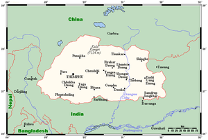 Geography of Bhutan - Bhutan's towns and villages