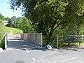 Bike trail bridge and bench at Willow Creek near Riley - panoramio.jpg