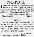 Bilingual notice in English and Cherokee 1828.jpg