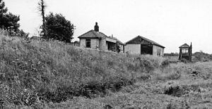Birdbrook railway station - View in 1962