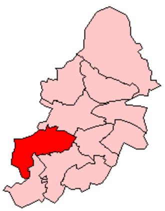 Edgbaston - Edgbaston constituency shown within Birmingham