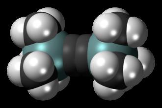 Bis(trimethylsilyl)acetylene - Image: Bis(trimethylsilyl)a cetylene 3D spacefill