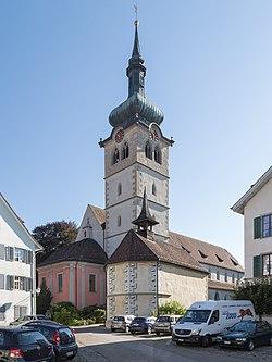 Bischofszell Kath. Kirche St. Pelagius mit Michaelskapelle.jpg