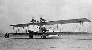 October 1926 Air Union Blériot 155 crash - Blériot 155 F-AICQ Clement Ader, the accident aircraft.