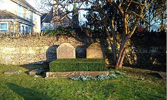 St Martin's Church, Bladon - The grave of the 10th Duke of Marlborough and his first wife at St Martin's Church.