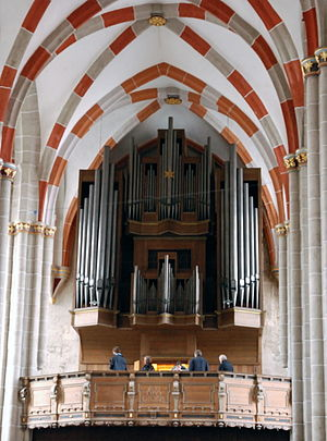 Christ lag in Todes Banden, BWV 4 - Organ of the Divi Blasii church in Mühlhausen, where the cantata was possibly first performed