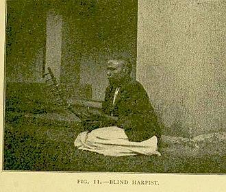 Baganda music - A blind Buganda harpist c. 1911
