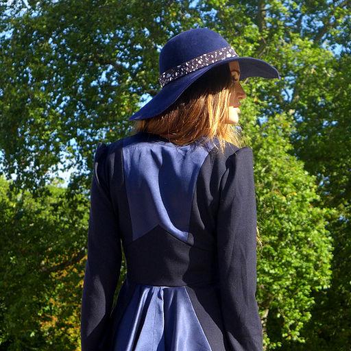 Blue Felt Hat