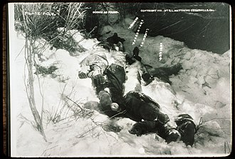 Battle of Kelley Creek - Image: Bodies as Found at Deserted Indian Camp 1911