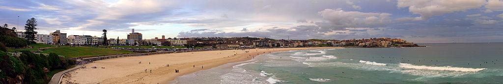 pláž Bondi beach - Austrália, Sydney