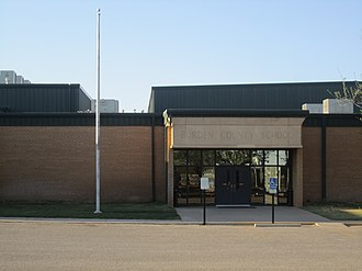 Borden County High School - Borden County School is located across from Bicentennial Park in Gail, Texas.