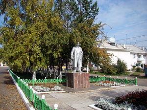 Borodino, Krasnoyarsk Krai - Monument to Vladimir Lenin in Borodino