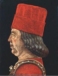 Baldassare Estense: portrait of Borso d'Este