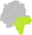 Bossée (Indre-et-Loire) dans son Arrondissement.png