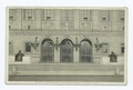 Boston Public Library, Entrance Arches, Boston, Mass, Showing the Bela L. Pratt Bronze Statues of Art and Science (NYPL b12647398-79316).tiff