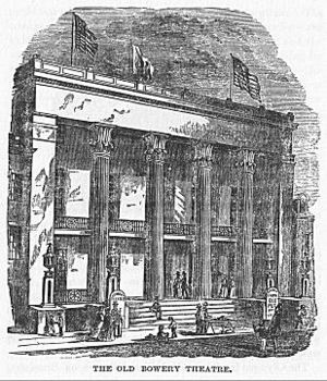 English: illustration of bowery theatre NYC