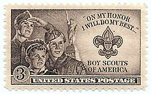 Commemorative BSA stamp first issued by the U.S. in 1950