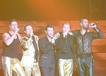 Boyzone during a performance in June 2009