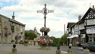Bramhope village in the United Kingdom