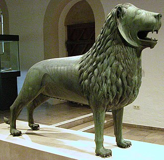 Brunswick Lion - Original Brunswick Lion on display in Dankwarderode Castle.