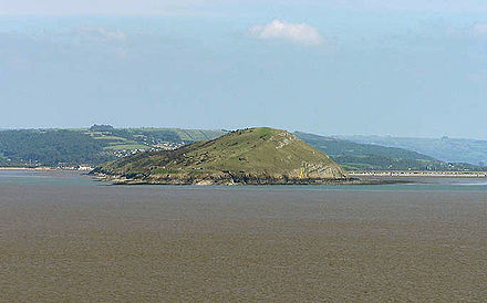 Brean Down from Steep Holm Brean Down from Steepholm - geograph.org.uk - 93827.jpg