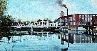 Fairfield, Maine - Image: Bridge & Woolen Mill, Fairfield, ME