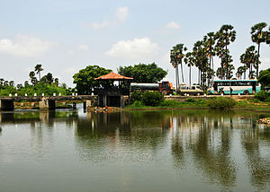 Northern Province, Sri Lanka - A bridge over a lagoon