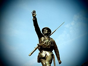 1920 in art - War memorial at Bridgnorth, England by Adrian Jones