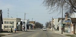 Looking north in downtown Brillion