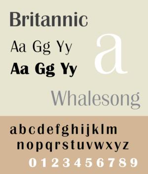 Britannic (typeface) - Image: Britannic sample image