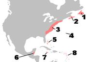 British Colonies in North America c1750 v2