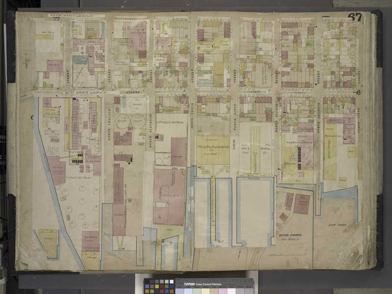File:Brooklyn, Vol. 4, Double Page Plate No. 67; (Map bounded by Wythe Ave., North 6th St., East River, Kent Ave; Including North 12th St., North 11th St., North 10th St., North 9th St., North 8th St., NYPL1695434.tiff