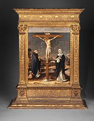 Christ on the Cross Adored by Saints Thomas Aquinas and Catherine of Siena