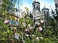Bucuresti, Romania. Biserica Alba printre magnolii.jpg