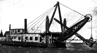 Bucyrus-Erie - A Bucyrus steam shovel working in the Panama Canal