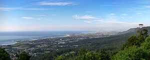 Bulli, New South Wales - panorama of the suburb and northern Wollongong's coastline