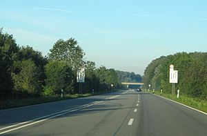 Bundesstraße 54 - The B54 near the Dutch border towards Enschede