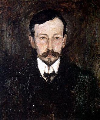 Ivan Bunin - Portrait of Ivan Bunin by Leonard Turzhansky, 1905