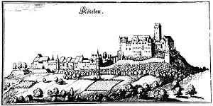 Rötteln Castle - Rötteln Castle as depicted in 1643