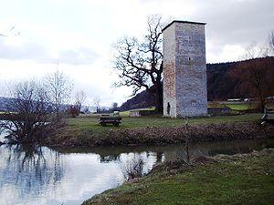 Burg Rieshofen - Gesamtansicht von Norden