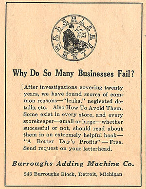 Burroughs Corporation - 1914 advertisement