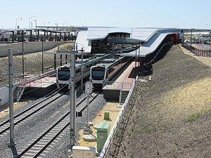 Butler railway station - Northbound view in September 2014